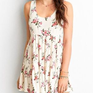 AMERICAN EAGLE OUTFITTERS Ivory Floral Mini Dress
